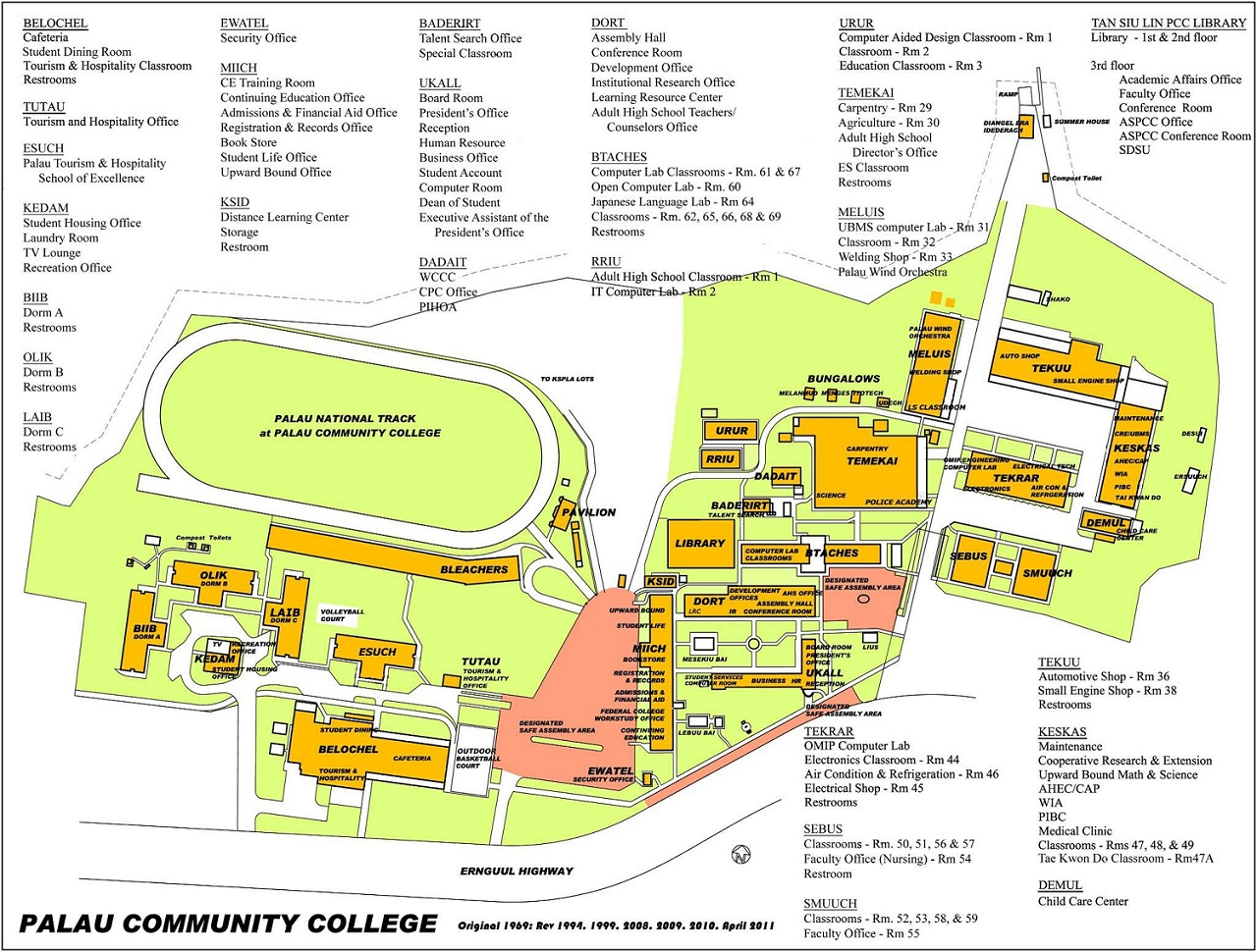 Palau Community College » Campus Map